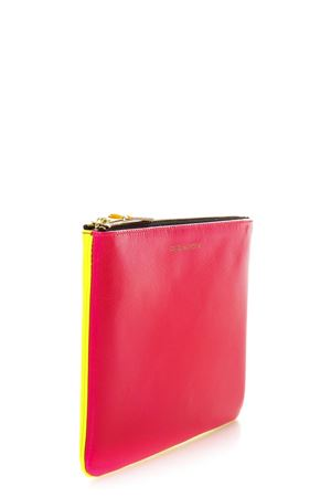 FLUO PINK & YELLOW LEATHER WALLET SS 2018 COMME DES GARCONS | 2 | SA5100SF1YELLOW