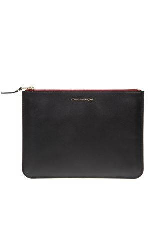 BLACK LEATHER POUCH WITH TEEH & TONGUE SS 2018 COMME DES GARCONS | 2 | SA5100TT1MULTICOLOR