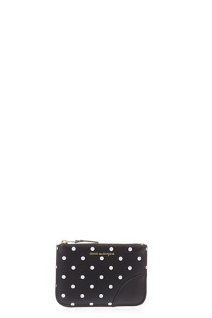 POLKA DOT BLACK & WHITE LEATHER POUCH SS 2018 COMME DES GARCONS | 5 | SA8100PD1BLACK