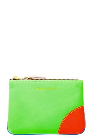 FLUO BLUE & GREEN LEATHER PURSE SS 2018 COMME DES GARCONS | 5 | SA8100SF1BLU/GREEN