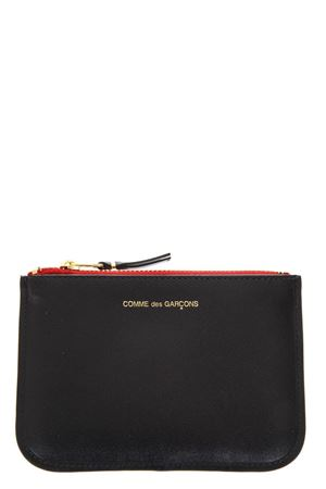 SMALL BLACK LEATHER POUCH WITH TEEH & TONGUE SS 2018 COMME DES GARCONS | 2 | SA8100TT1MULICOOR