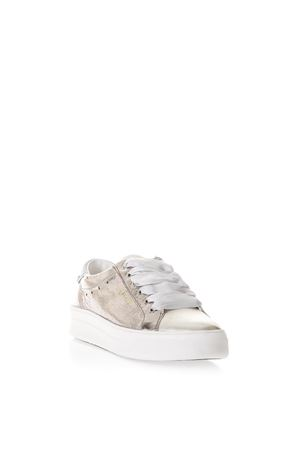 SNEAKERS BEAT IN PELLE METALLICA CON DETTAGLI GLITTER PE 2018 CRIME | 55 | 25605UNI73
