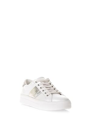 WHITE SONIK SNEAKERS IN LEATHER SS 2018 CRIME | 55 | 25624UNI10