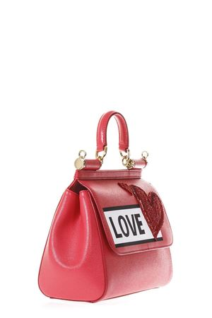 SICILY IBISCUS LEATHER BAG WITH LOVE PATCH SS 2018 DOLCE & GABBANA | 2 | BB6002AS50589417