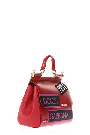 BORSA SICILY MEDIA IN PELLE ROSSA CON PATCH PE 2018 DOLCE & GABBANA | 2 | BB6002AS53780303