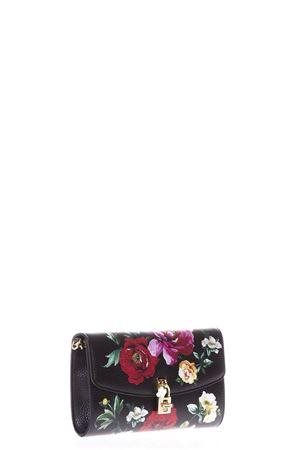 Pochette nera in pelle con stampe floreali PE 2018 DOLCE & GABBANA | 2 | BB6231AS176HNM62