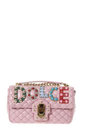 QUILTED LEATHER LUCIA SHOULDER BAG WITH PATCH SS 2018 DOLCE & GABBANA | 2 | BB6344AI6478H406