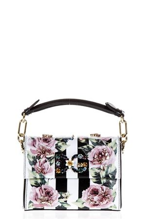 DG MILLENIALS WHITE LEATHER BAG WITH ROSES PRINT SS 2018 DOLCE & GABBANA | 2 | BB6430AH317HWI10