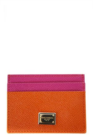 ORANGE & FUXIA DAUPHINE LEATHER CREDIT CARD HOLDER SS 2018 DOLCE & GABBANA | 34 | BI0330AU12780244