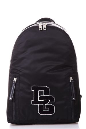 Black Vulcano backpack in nylon with logo patch SS2018 DOLCE & GABBANA   183   BM482AAN6918B956