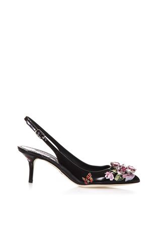 SLINGBACK IN PATENT LEATHERS 2018 DOLCE & GABBANA | 68 | CG0183AI942HNH41