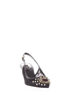 BLACK PUMPS WITH HEART EMBROIDERED AND STUDS SS18 DOLCE & GABBANA | 87 | CG0247AS7898B956