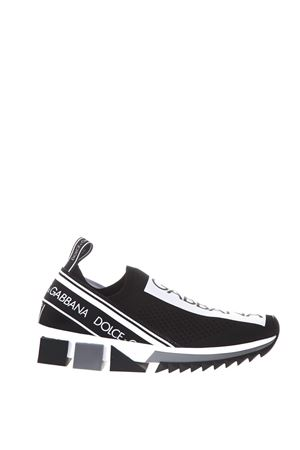 SORRENTO BLACK SNEAKERS WITH LOGO SS 2018 DOLCE & GABBANA | 55 | CK1595AH67789690