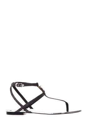 BLACK AND SILVER SANDALS WITH DOLCE&GABBANA LOGO SS18 DOLCE & GABBANA | 87 | CQ0186AN7808B979