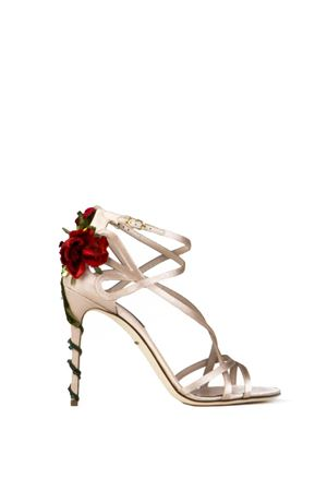 KEIRA ROSES ON SILK SATIN SANDALS SS 2018 DOLCE & GABBANA | 87 | CR0029A763080408