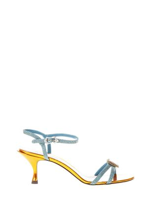 MULTICOLOURED SUEDE SANDALS WITH HEART DETAIL SS 2018 DOLCE & GABBANA | 87 | CR0551AN7808F631