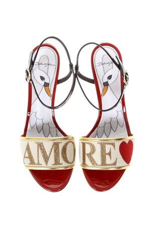 AMORE CREAM COLOR SANDALS SS 2018 DOLCE & GABBANA | 87 | CR0572AH93987767