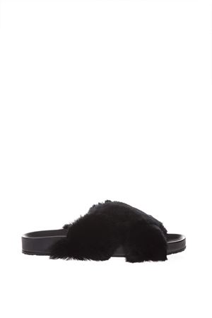BLACK LAPIN LEATHER AND RUBBER SLIPPERS SS 2018 DOLCE & GABBANA | 87 | CS1594AH6248B956