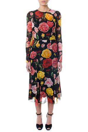 MULTICOLOURED FLORAL PRINT MIDY DRESS SS 2018 DOLCE & GABBANA | 32 | F68F9TFSAUZHNP70