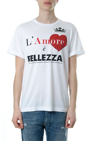 T-SHIRT IN COTONE BIANCO L