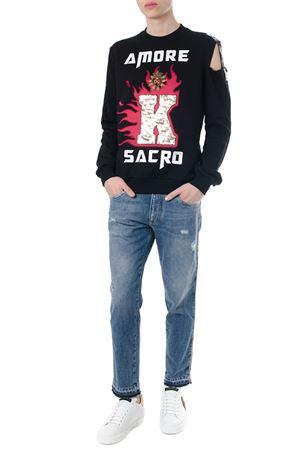 AMORE SACRO BLACK COTTON SWEATSHIRT SS 2018 DOLCE & GABBANA | 19 | G9LE9ZG7NDRHNN44