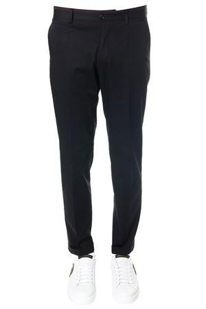 CHINO BLACK COTTON PANTS WITH SIDE STRIPE SS 2018 DOLCE & GABBANA | 8 | GYB1MTFUFISN0000