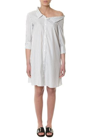 BLACK AND WHITE ASYMMETRIC SHIRT DRESS SS 2018 DONDUP | 32 | A801EF090DXXX1000N