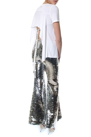 SILVER SEQUINED FLARED TROUSERS SS 2018 DONDUP | 8 | DP256OF154DXXXSHIKARI952