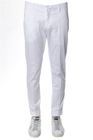 GAUBERT CLASSIC PANTS IN WHITE  COTTON  SS 2018 DONDUP | 8 | UP235RS030UPTDGAUBERT000