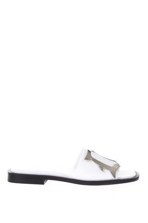 WHITE LEATHER SANDALS WITH LOGO SS 2018 DONDUP | 87 | WS147Y600DXXXLOGATA000