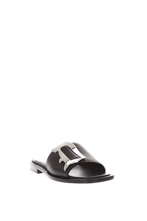 BLACK LEATHER SANDALS WITH LOGO SS 2018 DONDUP | 87 | WS147Y600DXXXLOGATA999
