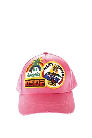 PINK COTTON BASEBALL HAT WITH PATCHES SS 2018 DSQUARED2 | 17 | BCM005305C000019207