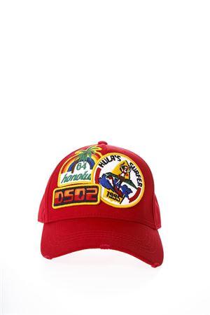 CAPPELLO ICON IN COTONE ROSSO PE2018 DSQUARED2 | 17 | BCM005305C000014065