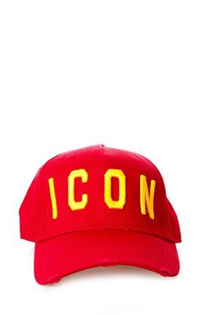 CAPPELLO ICON IN COTONE ROSSO PE 2018 DSQUARED2 | 17 | BCM400105C00001M1390