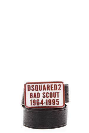 BLACK BAD SCOUT BELT IN LEATHER SS 2018 DSQUARED2 | 12 | BEM0012129000012124