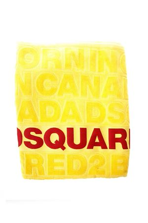 YELLOW LOGOED BEACH TOWEL ss 2018 DSQUARED2 | 103 | D7P0019201700