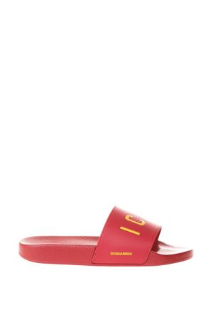 RED RUBBER ICON SLIDES SS 2018 DSQUARED2 | 87 | FFM0102172000014065