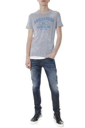 GREY COTTON WORNED EFFECT T-SHIRT SS 2018 DSQUARED2 | 15 | S71GD0644S22146857M