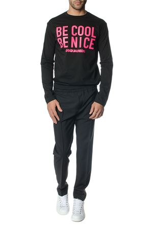 T-shirt Be Cool Be Nice manica lunga in cotone DSQUARED2   19   S71GD0670S22427978X