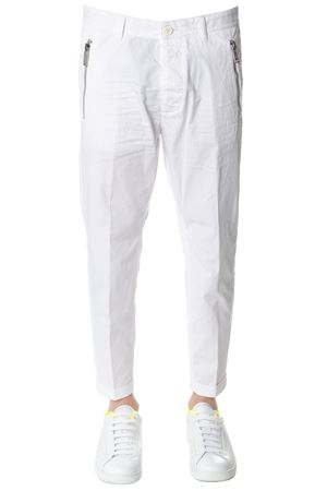 WHITE CROPPED SIDE ZIPPED PANTS SS 2018 DSQUARED2 | 8 | S71KB0072S41796100