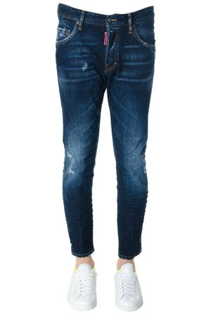 JEANS BEE COOL BEE NICE IN DENIM DI COTONE BLU PE 2018 DSQUARED2 | 4 | S71LB0474STN757470