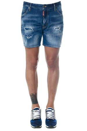 DENIM JEANS TEARED & PATCHED SHORT SS 2018 DSQUARED2 | 110000034 | S71MU0488S30342470