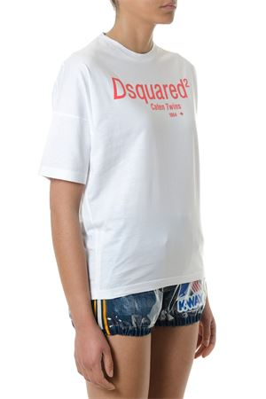 T-SHIRT IN COTONE BIANCO CATEN TWINS PE 2018 DSQUARED2 | 15 | S72GD0072S22427100