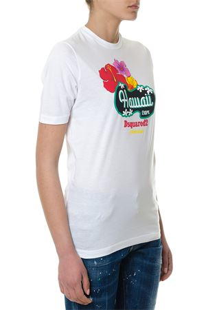 HAWAII WHITE T-SHIRT SS 2018 DSQUARED2 | 15 | S72GD0079S22427100