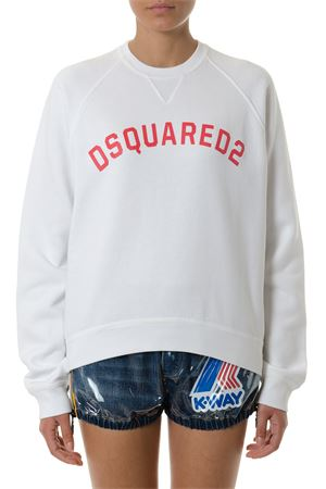 WHITE DSQ2 COTTON SWEATSHIRT SS 2018 DSQUARED2 | 19 | S72GU0143S25030100