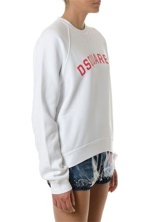 WHITE DSQ2 COTTON SWEATSHIRT SS 2018 DSQUARED2 | 19 | S72GU0143S25030100