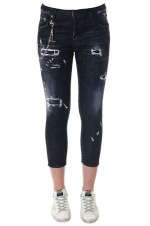 JEANS COOL GIRL IN DENIM DI COTONE NERO PE 2018 DSQUARED2 | 4 | S72LB0084S30357900