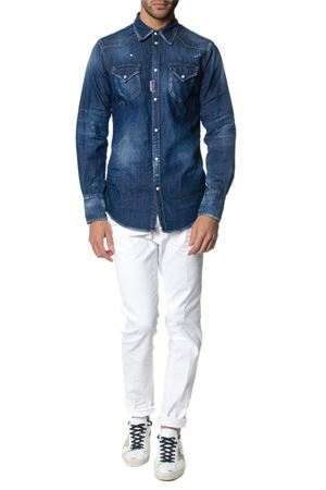 Washed effect denim shirt SS 2018 DSQUARED2 | 9 | S74DM0118S30341470