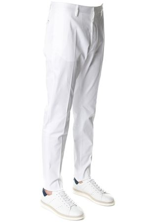 WHITE COTTON TAILORED TROUSERS SS 2018 DSQUARED2 | 8 | S74KB0107S39021100