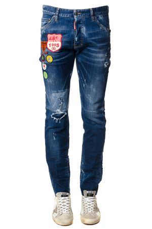 Distressed Cool Guy jens with multicolored patch SS 2018 DSQUARED2 | 4 | S74LB0327S30342470